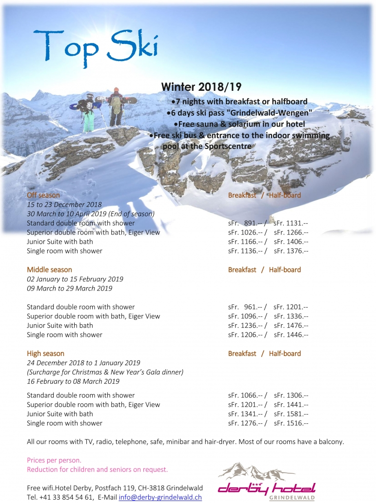 Top Winter package 20181/9