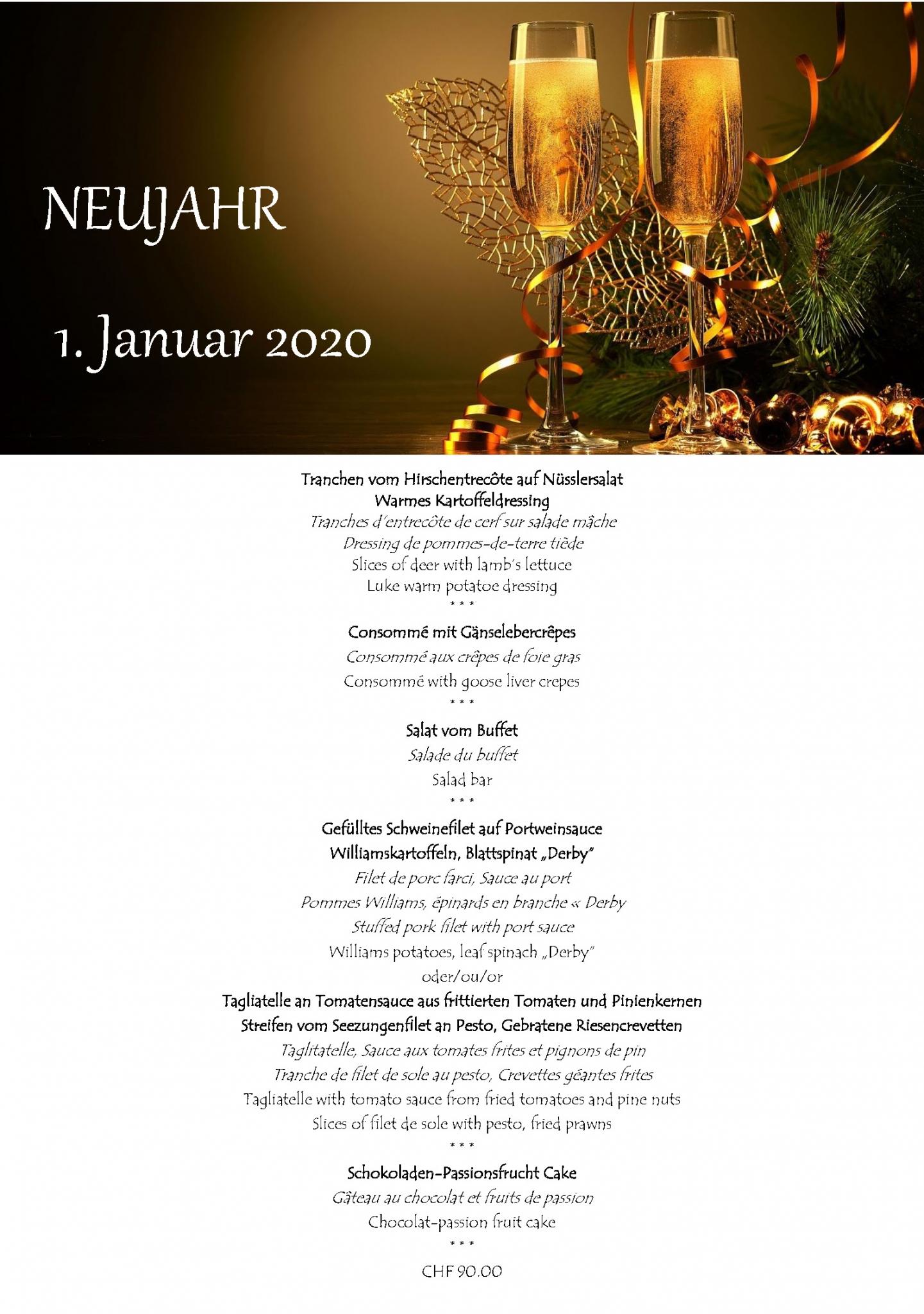 Menü Neujahr 2019